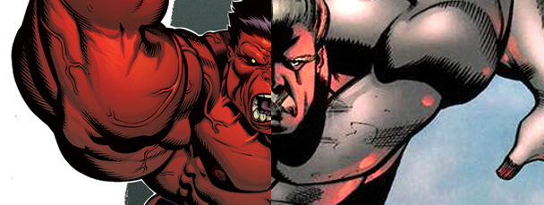 Red Hulk Vs Green Hulk Vs Gray Hulk Has become the red hulk,